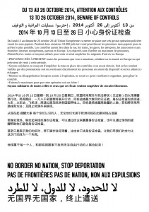 CHINOIS AFFICHE DU 13 AU 26 OCTOBRE 2014 ATTENTION AUX CONTROLES
