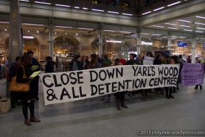 London eurostar protest 2
