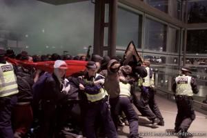 London eurostar protest 6