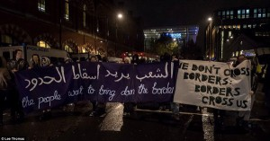 London eurostar protest 7