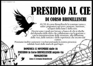Turin rassemblement au CIE 15 novembre 2015