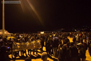 lesbos migrants protest 31 octobre 2015